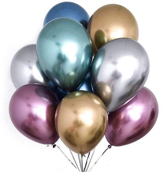 "Latex Metallic Pearlised Quality Air//Helium Party Birthday Weding 12/"" BALLOONS"