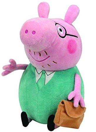 Ty - Peppa Pig - Grande peluche Papa Pig