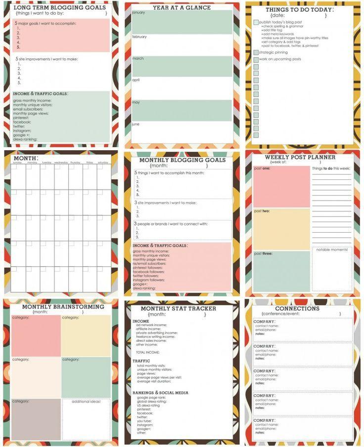 #Free #Printable #Blog #Planner