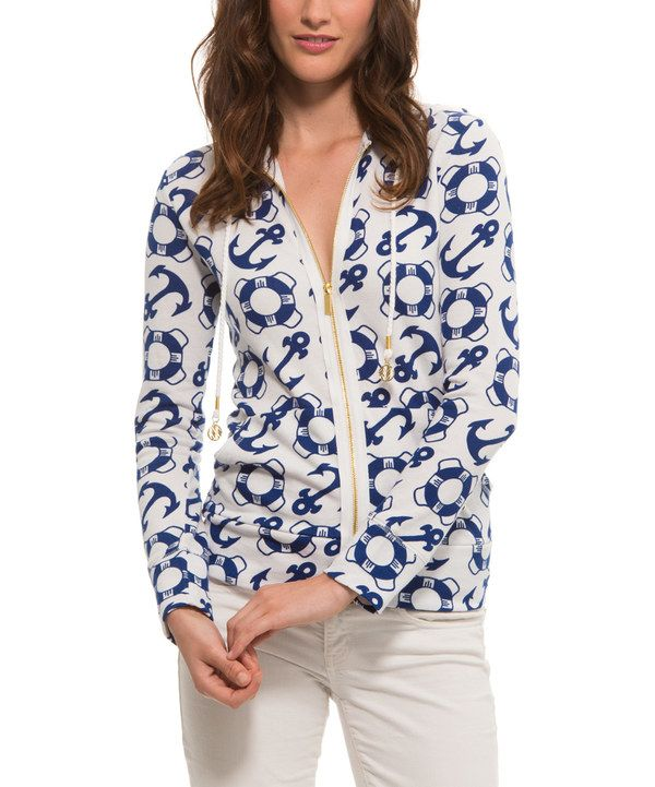 Look at this Marina Nautical Zip-Up Hoodie on #zulily today!