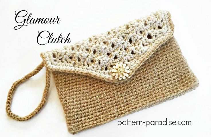 #12WeeksChristmasCAL Free Crochet Pattern holiday clutch bag evening purse by Pattern-Paradise.com #crochet #freepattern #bag #patternparadisecrochet