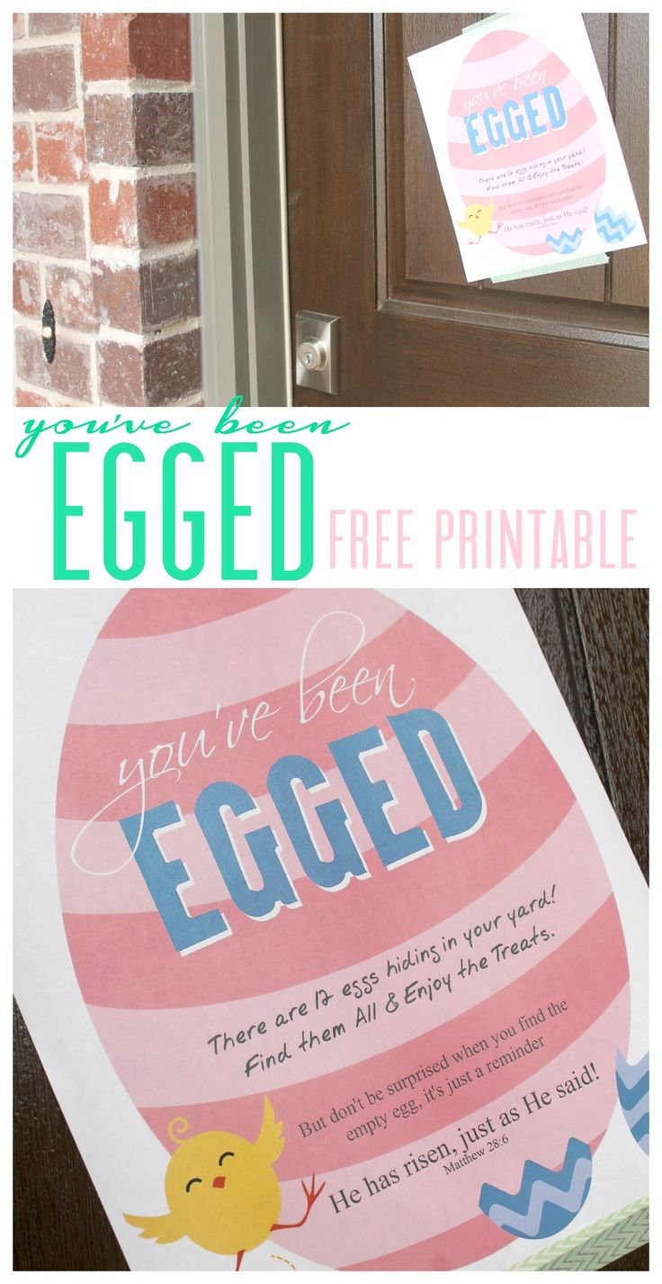You've been egged free printable! Easter Printables to Celebrate Easter!