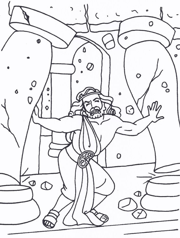 Samson Bible characters Bible coloring pages Bible