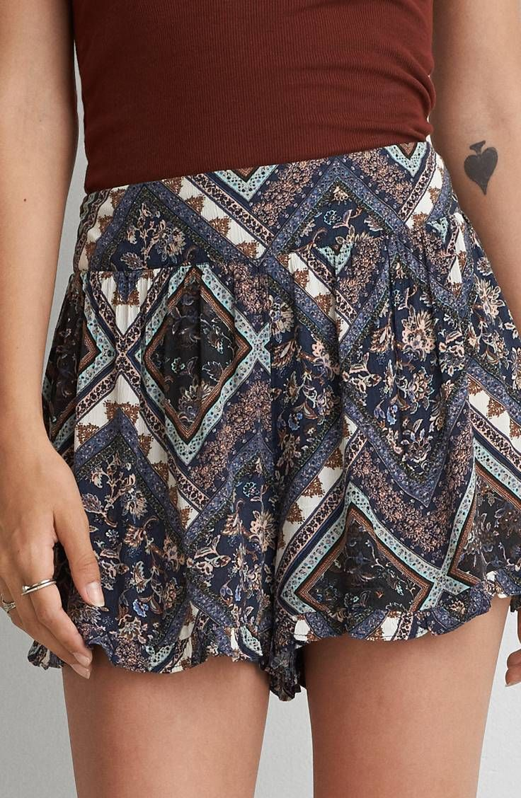 AEO Ruffled Soft Shorts by  American Eagle Outfitters    Shop the AEO Ruffled Soft Shorts and check out more at AE.com.
