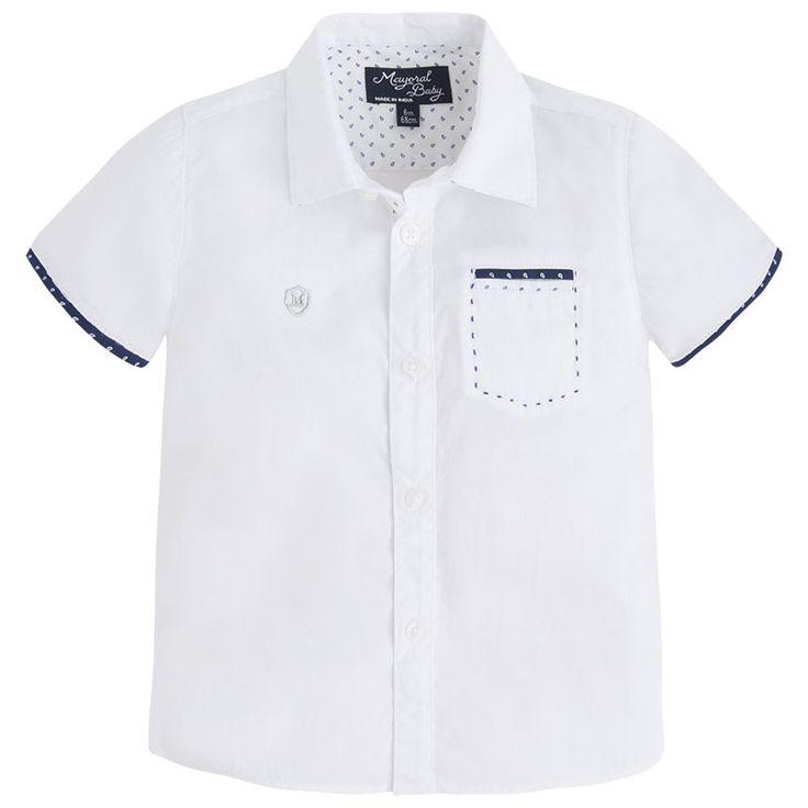 Art 26-01154-084 Camisa popeline manga curta Brancos - Mayoral