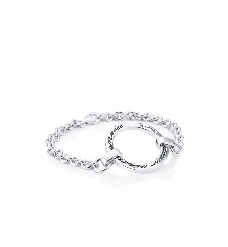"""Efva Attling Bracelet with """"Amor Vincit Omnia"""", Latin for """"Love conquers all"""", engraved."""