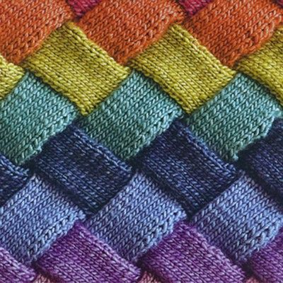 Entrelac knitting. I want to make a blanket out of this stitch