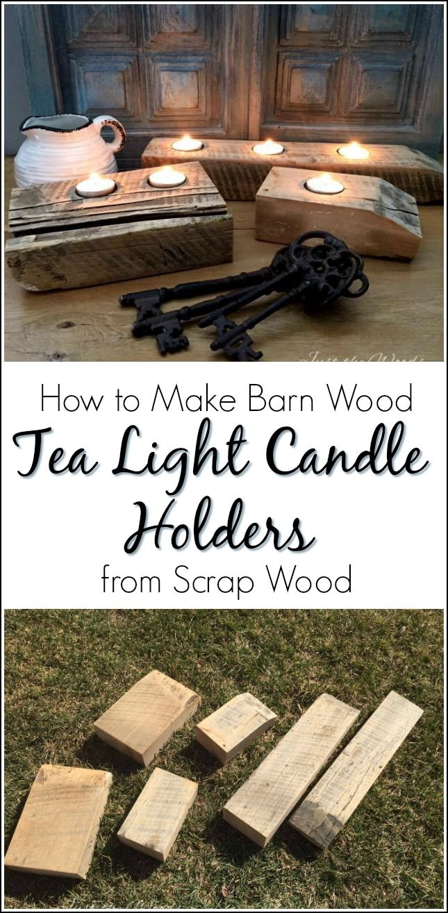 Learn the simple way to make reclaimed barn wood tea light candle holders. DIY