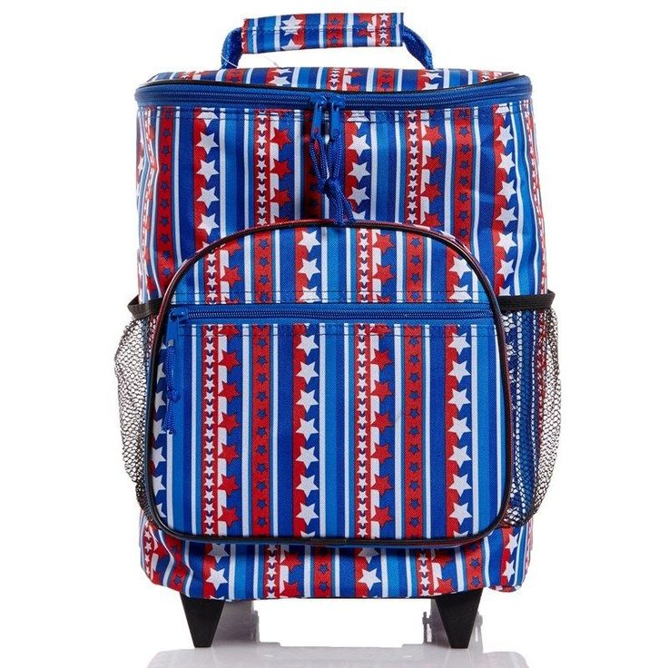 Tailgating Supplies Rolling Cooler Soft Roadside Picnic Suitcase Handle Stars  #Homeessentials