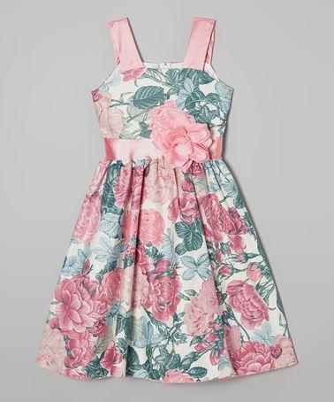 Pink & Green Floral Dress - Infant, Toddler & Girls #zulily #zulilyfinds