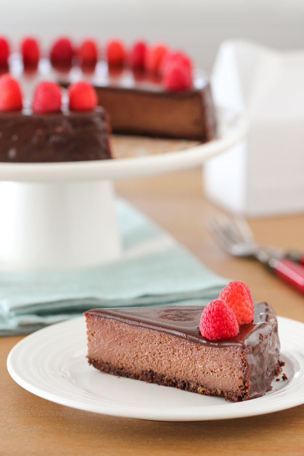 When I'm rarely but suddenly attacked by a chocolate craving, sometimes there's nothing to do but give in. Since cheesecake is my vice, a decadent, creamy Chocolate Cheesecake was the way I decided to go. My cheesecake of choice is a soft and tender sort, so I prefer to add some ricotta cheese to it. …