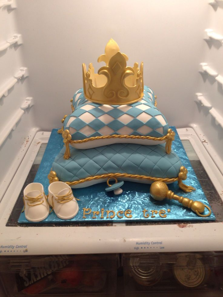 Prince Baby Shower Cake I Made! Mallory Gray 50 Cakes Of Gray