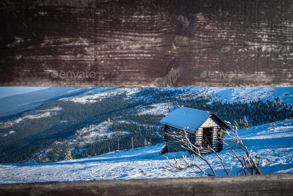 Small wooden hut on the slope of Szrenica - Stock Photo - Images Download here : https://photodune.net/item/small-wooden-hut-on-the-slope-of-szrenica/20094388?s_rank=235&ref=Al-fatih