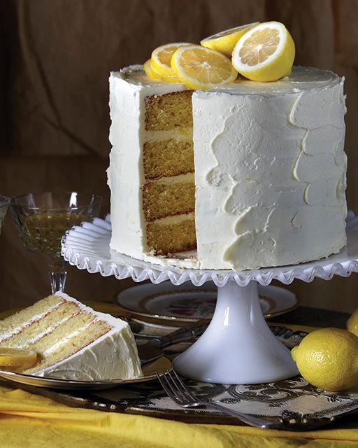 Lemon Curd Cake French Meringue Layer