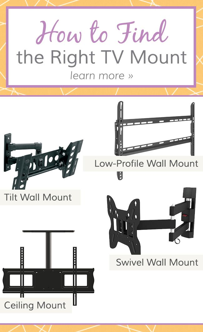 Enhance your TV viewing experience with a properly installed TV mount. Before determining what type of mount is necessary to hang your TV, it's important to read the specifications and measurements of your TV. Knowing the size, weight, and style (Plasma, LCD, LED, and CRT TV) of your TV before you begin the process will help to ensure your TV will fit perfectly in your TV mount. To learn more, we share what types of mounts to consider, as well as how to safely and securely install your TV…