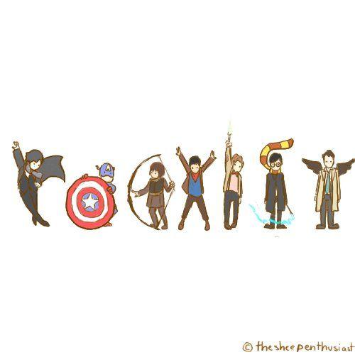 COEXIST (Sherlock, Avengers, Robin Hood, Merlin, Doctor Who, Harry Potter, Supernatural)