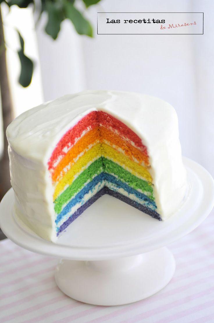 Las recetitas (de Mirasens): Rainbow cake o tarta arcoiris...Thank you Nana for translating this for me! :)