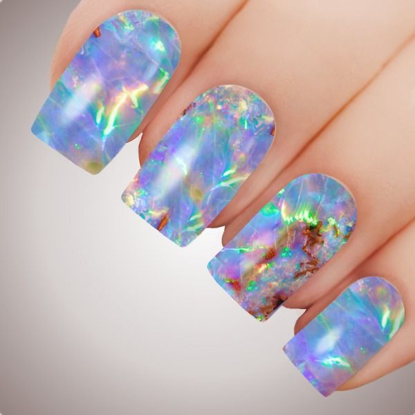 Paradise Opal - ULTIMATE COLLECTION - Full Nail Art Decal Water Transfer Tattoo