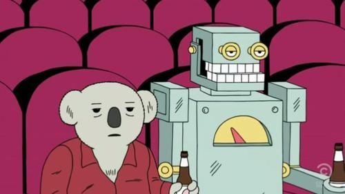 Doug not enjoying a movie.