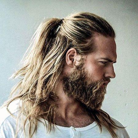 20 beliebte Männer lange Pferdeschwanz, Blondes Haar, Thorin, Pferdeschwanz, Momoa, Männer, Leto, Jared, Halb, Bart