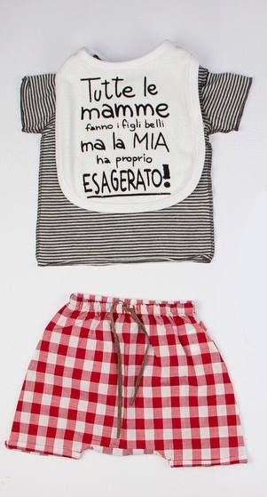 THE TOP! For boys and girls. Shop online: http://www.cocochic.it/it/bambina/738-shorts-di-cotone-a-quadri.html http://www.cocochic.it/it/bambino/728-t-shirt-millerighe-grigiobianco.html