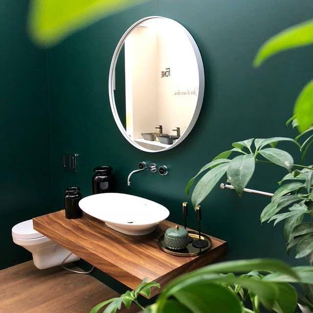 Green Bathroom Envy Bano Contemporaneo En Verde Casa Haus