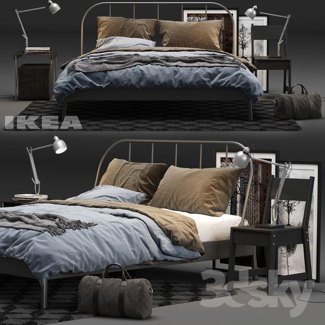 3d Models Bed Ikea Kopardal Bed Ikea Bed Bed Bed Design