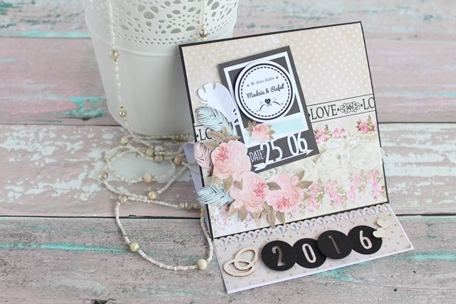 Easel card, wedding,