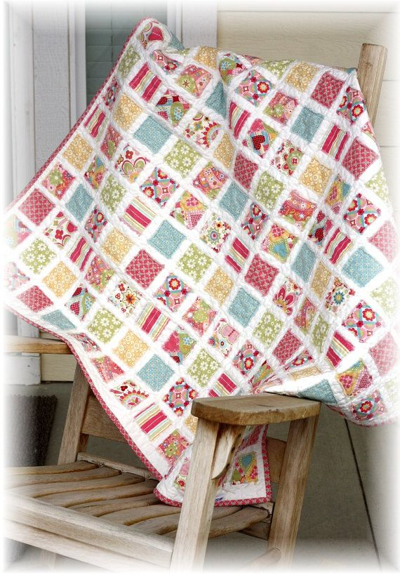 Vintage Baby Quilt Pattern 40 By 40 Inches
