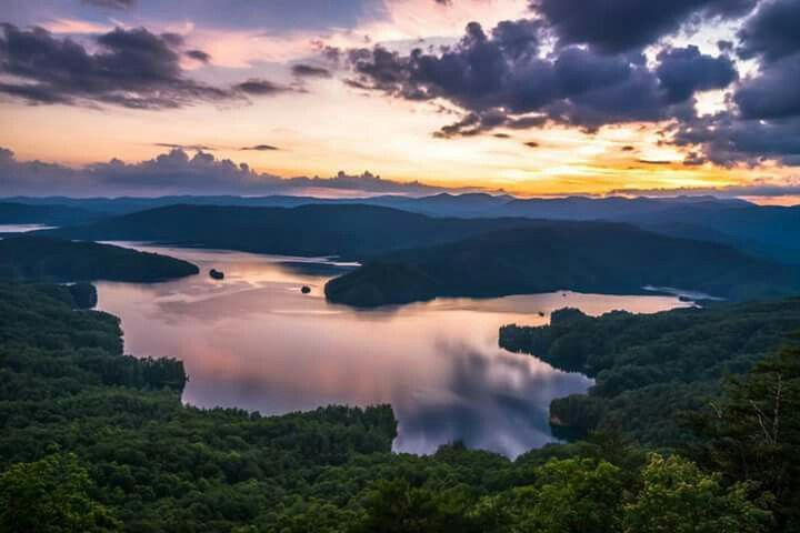 Lago Jocassee, Carolina del Sur.
