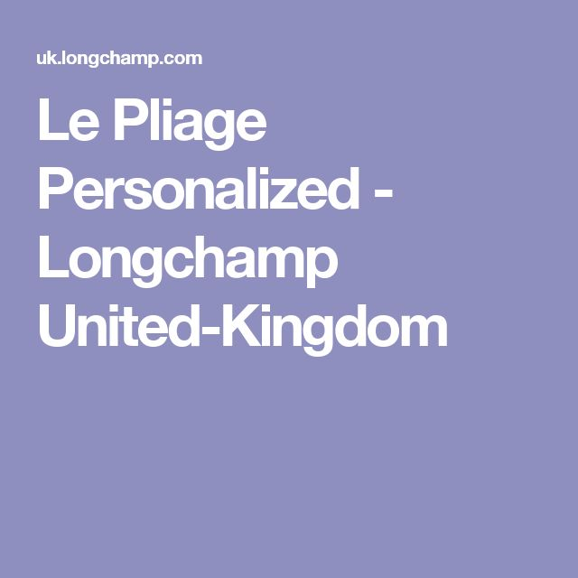 Le Pliage Personalized - Longchamp United-Kingdom