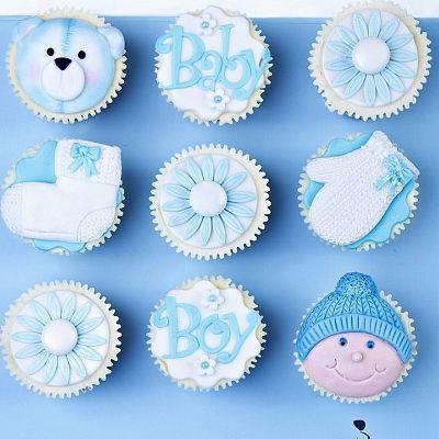 Blue Cupcakes.