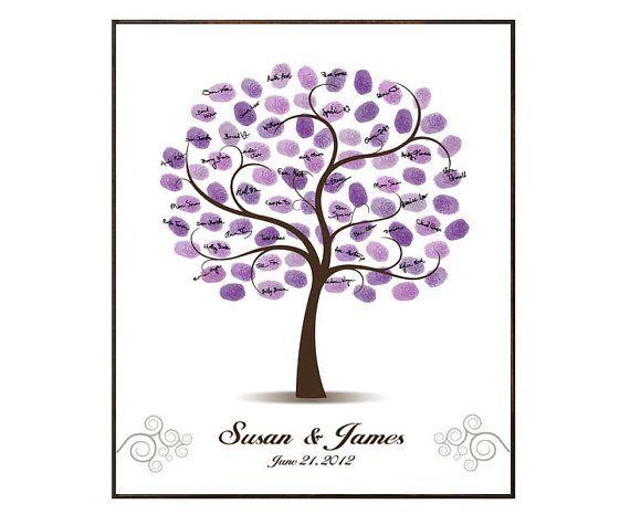 Boda libro de visitas de árbol boda invitado libro boda