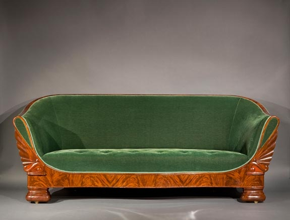 The Only New Orleans Labeled Restauration Style Sofa Of J W Meeks From 1836
