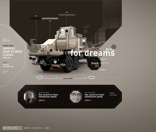 Cool techy #web #design look and feel for heavy equipment? Yes this can be well designed to!
