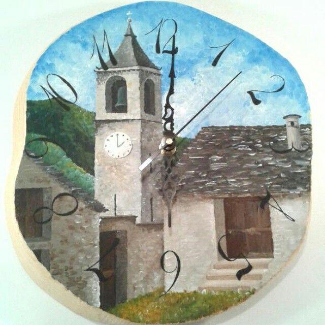 Painted clock, Villette, Valle Vigezzo.
