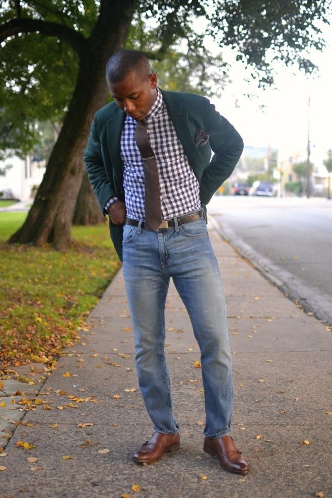 gingham shirt + clayton double monk strap | Men's Style Pro