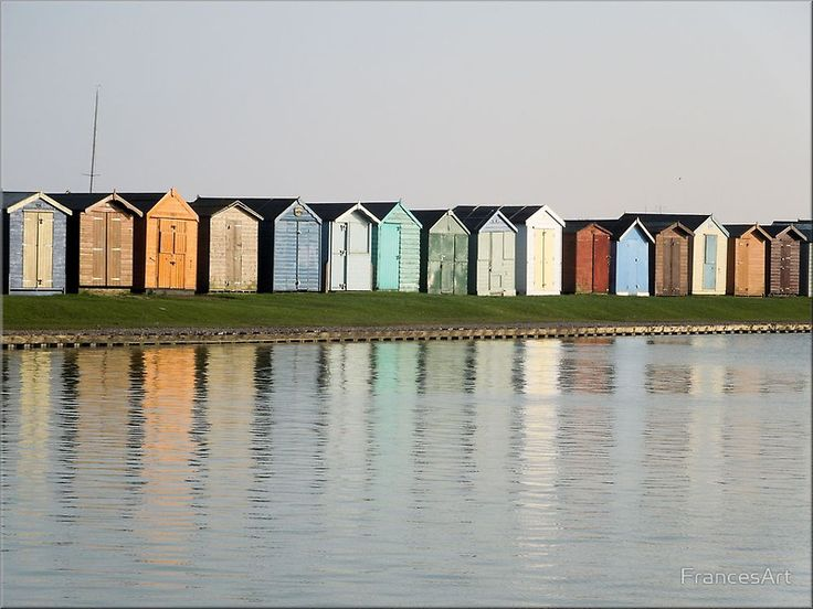 Beach Hut Reflections, Brightlingsea