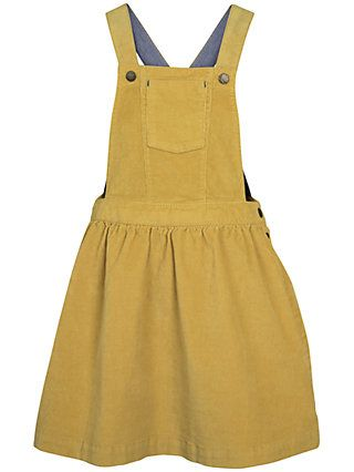 fd04a4269 BuyFat Face Girls' Evie Cord Pinafore Dress, Ochre, 2-3 years Online at  johnlewis.com