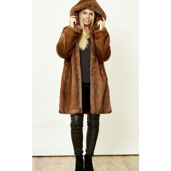 1000  ideas about Faux Fur Hooded Coat on Pinterest | Fur hooded