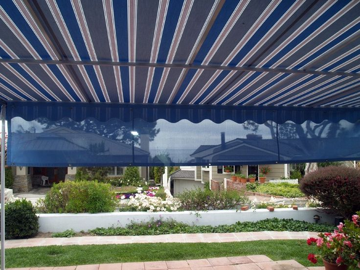 Traditional Awnings With Fold Down Valance Commercial Canopy Patio Awning Window Awnings