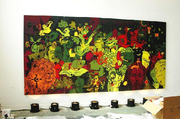 Toile canvas 100% coton + impression encres mates + montage sur châssis bois à partir de 18€ ht le petit format. By Le 9eme Concept