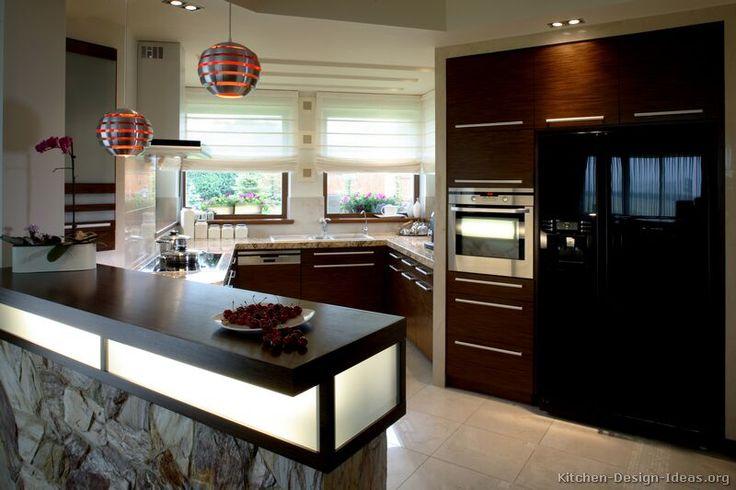 17 best ideas about dark wood kitchens on pinterest - Dark wood cabinets kitchen design ...