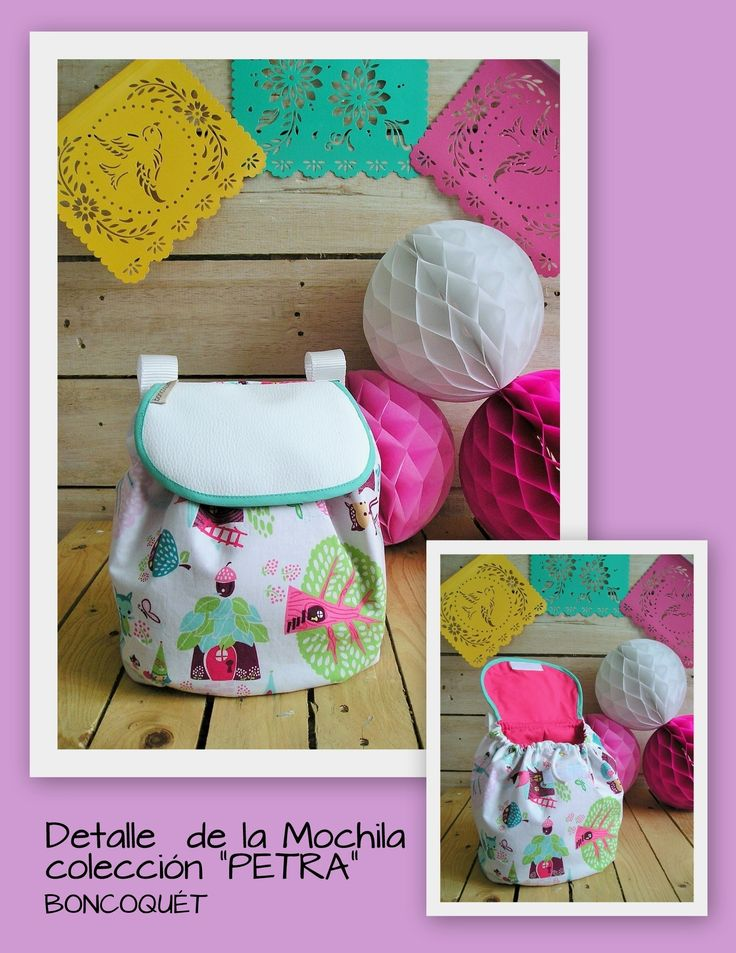 "Mochila bebe ""PETRA"" www.facebook.com/boncoquet"