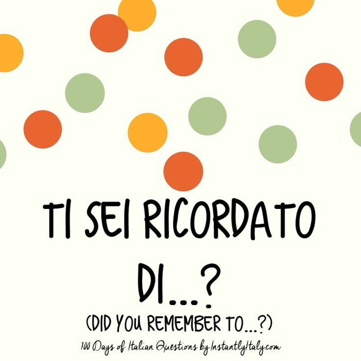 96/100 - 100 Days of Italian Questions on Instagram