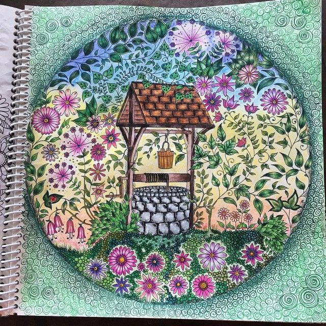 Jardim Secreto Coloring PagesColoring BooksColored PencilsJohanna Basford Secret GardenWatercolor PaintingWishing