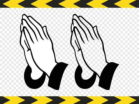 Pray Svg Christian Praying hands Prayer Clipart Dxf Pdf Png