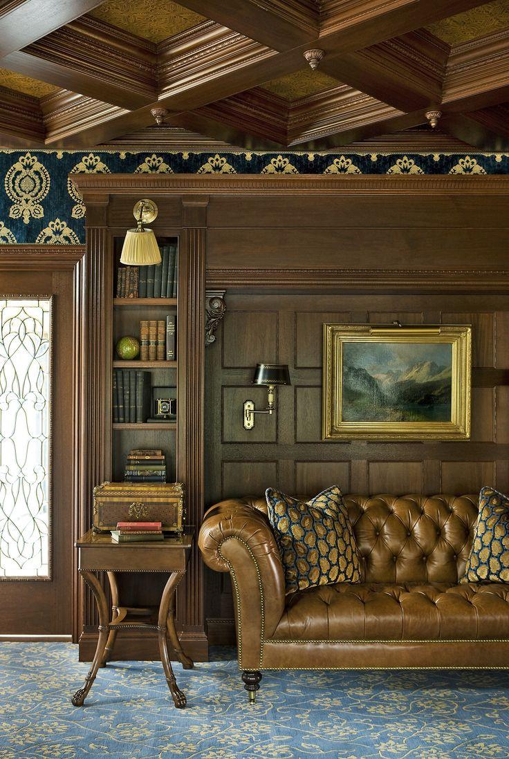 Olkd Study Room: Old World Inspiration By Eberlein Design