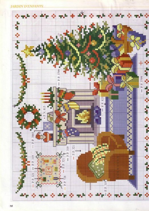 Cross Stitch *♥* Christmas My ideal xmas room