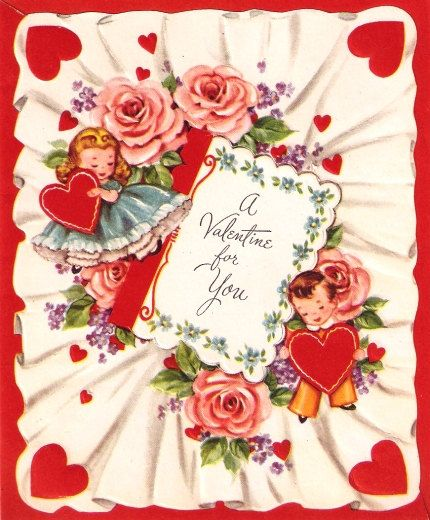 17 Best images about vintage valentines – Cards Valentines